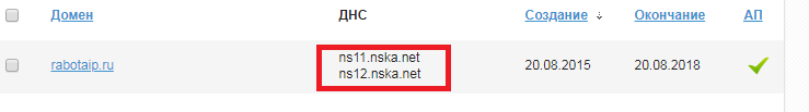 DNS моего домена