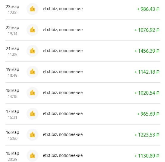 1000 рублей в день